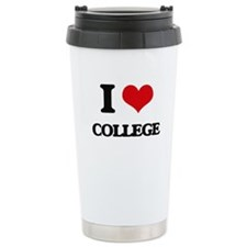 I Love College Travel Mug