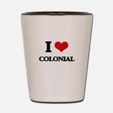 I love Colonial Shot Glass