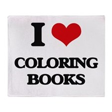 I love Coloring Books Throw Blanket