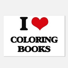 I love Coloring Books Postcards (Package of 8)