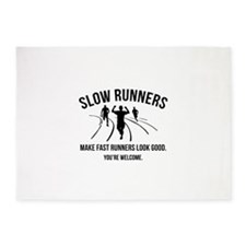 Slow Runners 5'x7'Area Rug