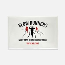 Slow Runners Rectangle Magnet