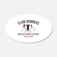 Slow Runners 22x14 Oval Wall Peel