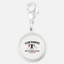 Slow Runners Silver Round Charm