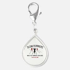 Slow Runners Silver Teardrop Charm