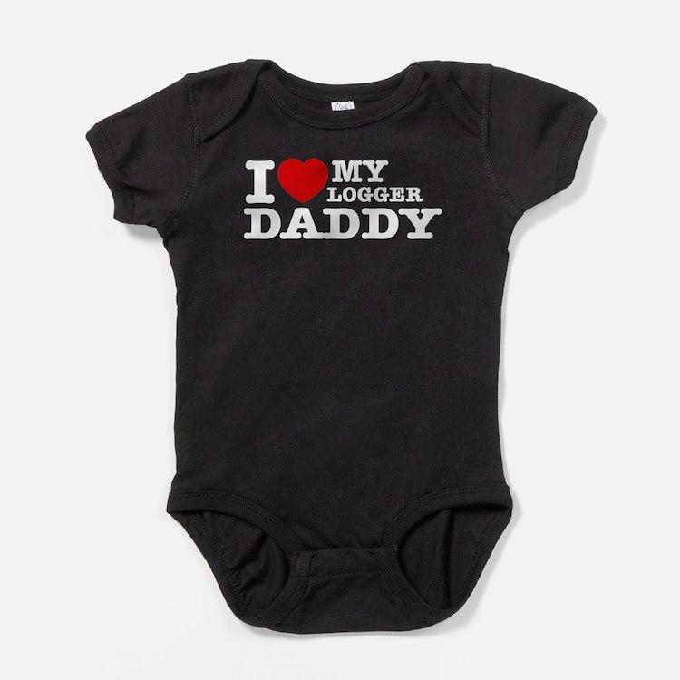 Cute Logger Baby Bodysuit