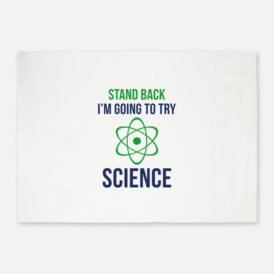 I'm Going To Try Science 5'x7'Area Rug
