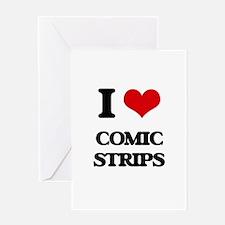 I love Comic Strips Greeting Cards