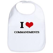 I love Commandments Bib