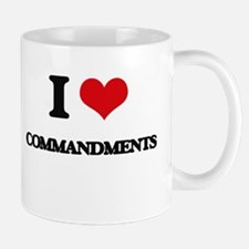 I love Commandments Mugs