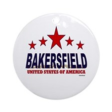 Bakersfield U.S.A. Ornament (Round)