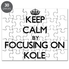 Keep Calm by focusing on on Kole Puzzle