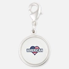 American Silver Round Charm