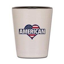 American Shot Glass