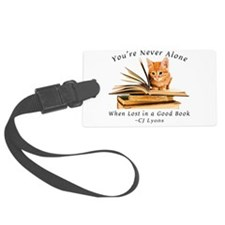 Kitten lost in books Luggage Tag