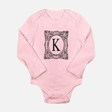 Elegant Name Initial Monogram Body Suit