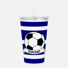 Cute Sports soccer Acrylic Double-wall Tumbler