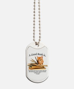 A good book is... Dog Tags