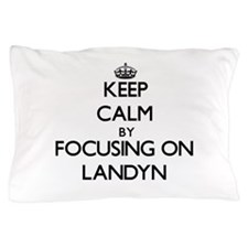 Keep Calm by focusing on on Landyn Pillow Case