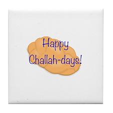 Happy Challah-days! Tile Coaster