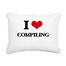 I love Compiling Rectangular Canvas Pillow