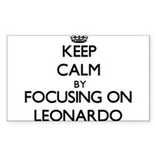 Keep Calm by focusing on on Leonardo Decal