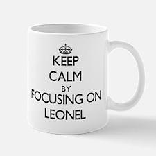 Keep Calm by focusing on on Leonel Mug
