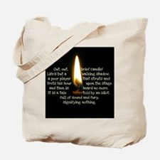 Out Brief Candle Tote Bag
