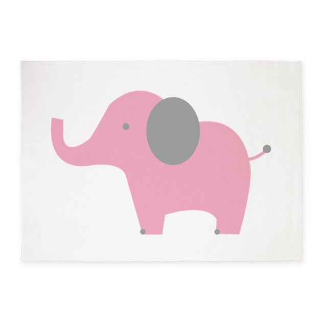 Pink Elephant 5'x7'Area Rug By Windmill33