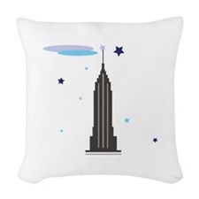 Empire State Building Woven Throw Pillow