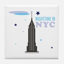 Nightime In NYC Tile Coaster