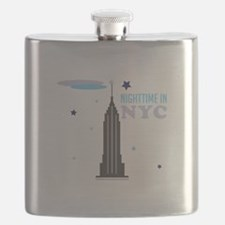 Nightime In NYC Flask