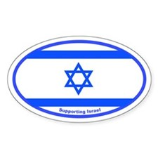 Israel Support Oval Decal