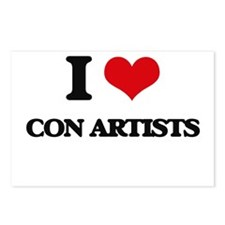 I love Con Artists Postcards (Package of 8)