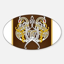 Celtic Dragons Intertwined On Wood Decal