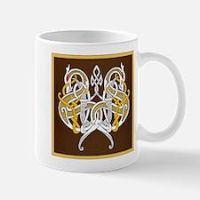 Celtic Dragons Intertwined On Wood Mugs