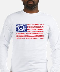 Vintage Peace In America Long Sleeve T-Shirt