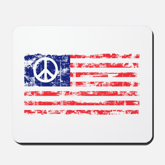 Vintage Peace In America Mousepad