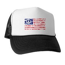 Vintage Peace In America Trucker Hat