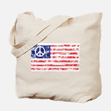 Vintage Peace In America Tote Bag