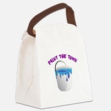 Paint The Town Canvas Lunch Bag