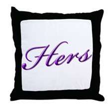 Hers Throw Pillow