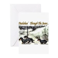 Funny Doxie christmas Greeting Cards (Pk of 10)