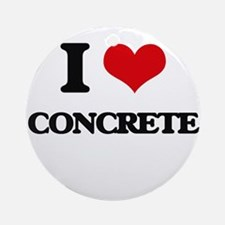 I love Concrete Ornament (Round)