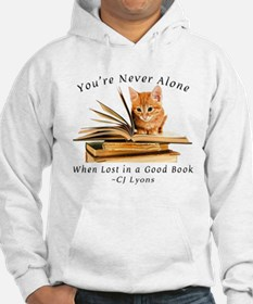 Kitten lost in books Hoodie