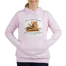 Kitten lost in books Women's Hooded Sweatshirt