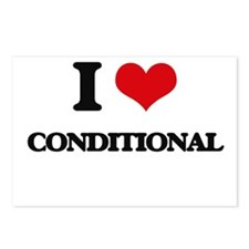 I love Conditional Postcards (Package of 8)
