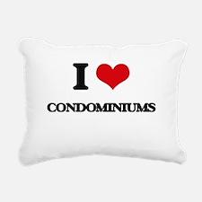 I love Condominiums Rectangular Canvas Pillow