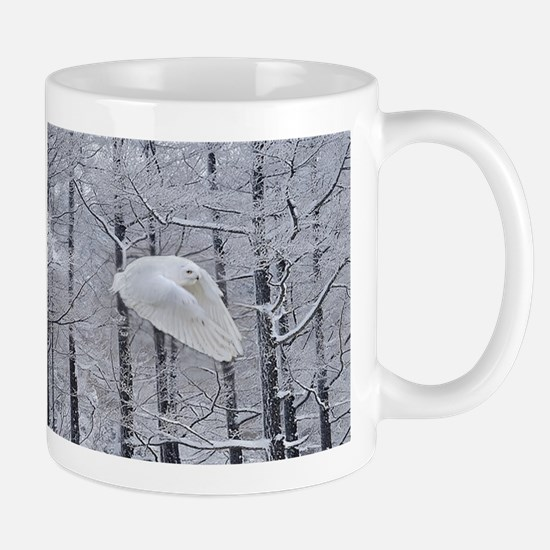 Snowy Owl, Praying Wings Large Mugs