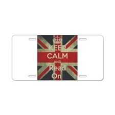 Keep Calm and Read On Aluminum License Plate